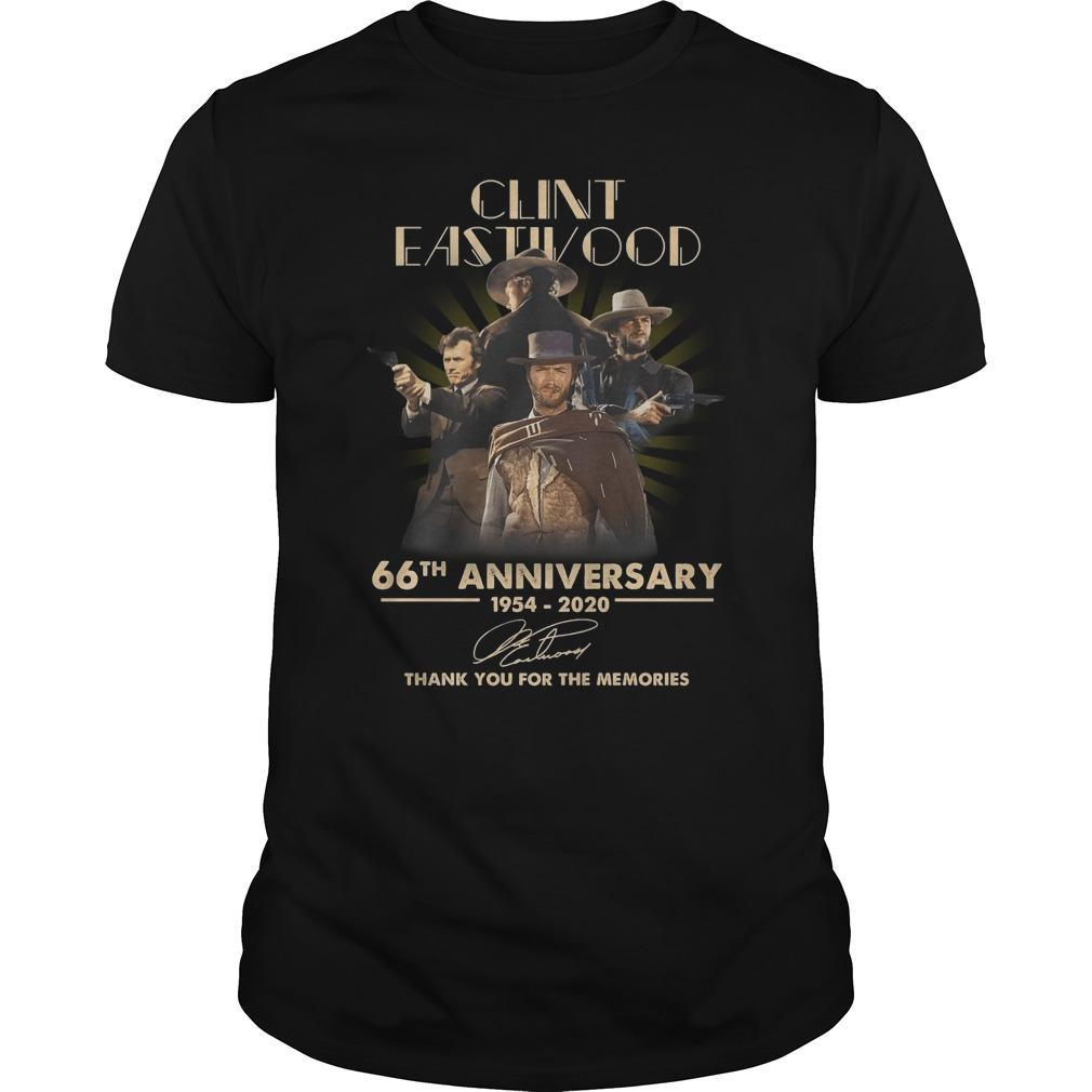 Clint Eastwood 66th Anniversary Thank You For The Memories Shirt