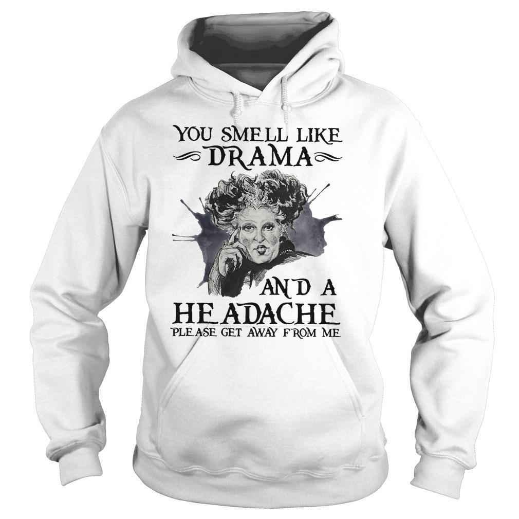 Hocus Pocus You Smell Like Drama And A Headache Please Get Away From Me Hoodie