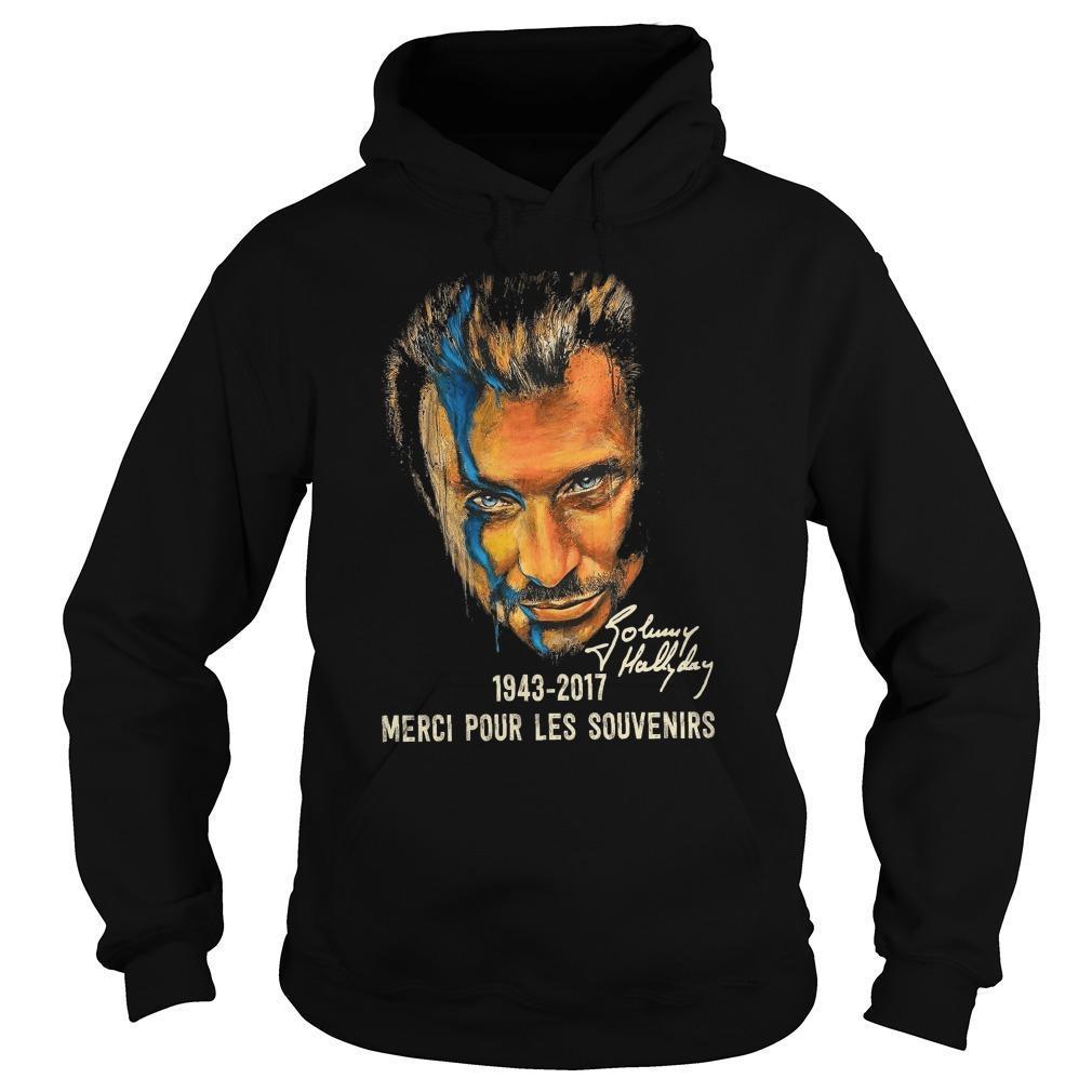 Johnny Hallyday Merci Pour Les Souvenirs Hoodie