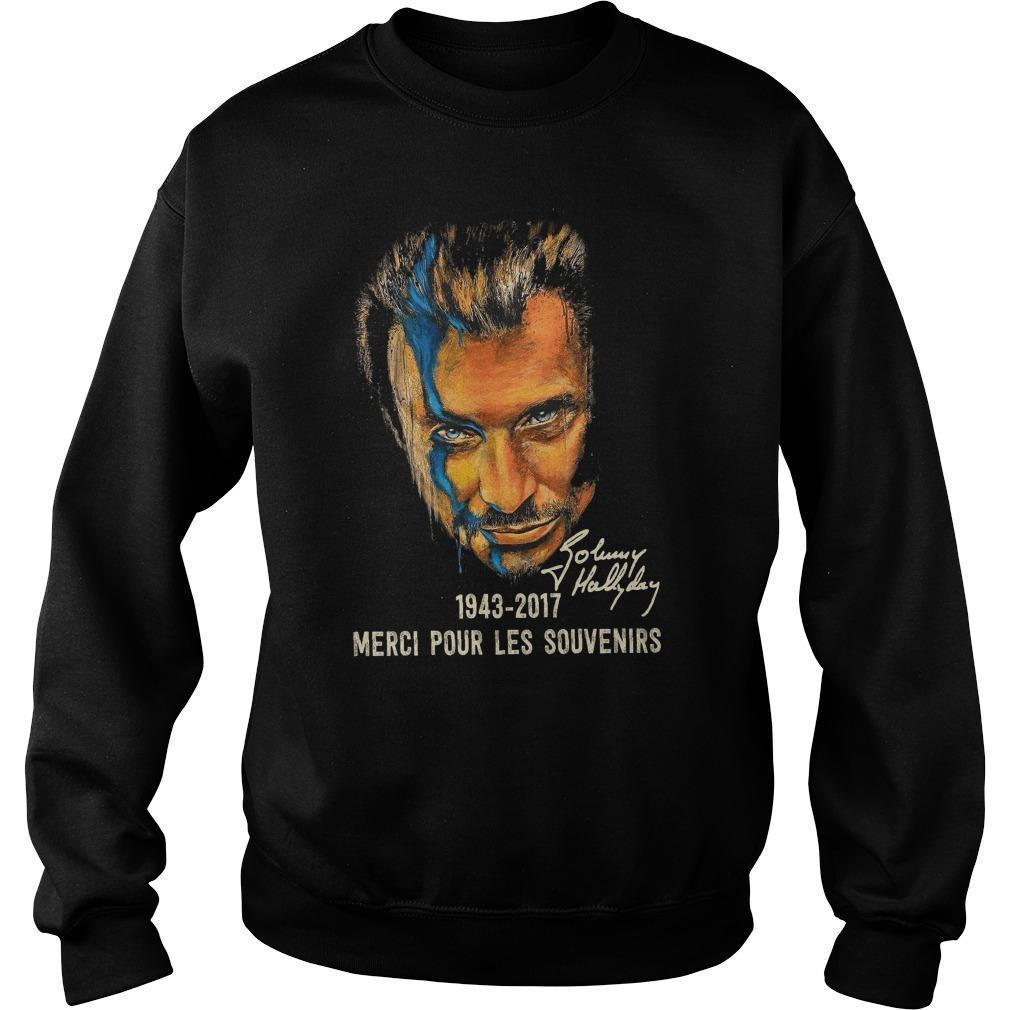 Johnny Hallyday Merci Pour Les Souvenirs Sweater