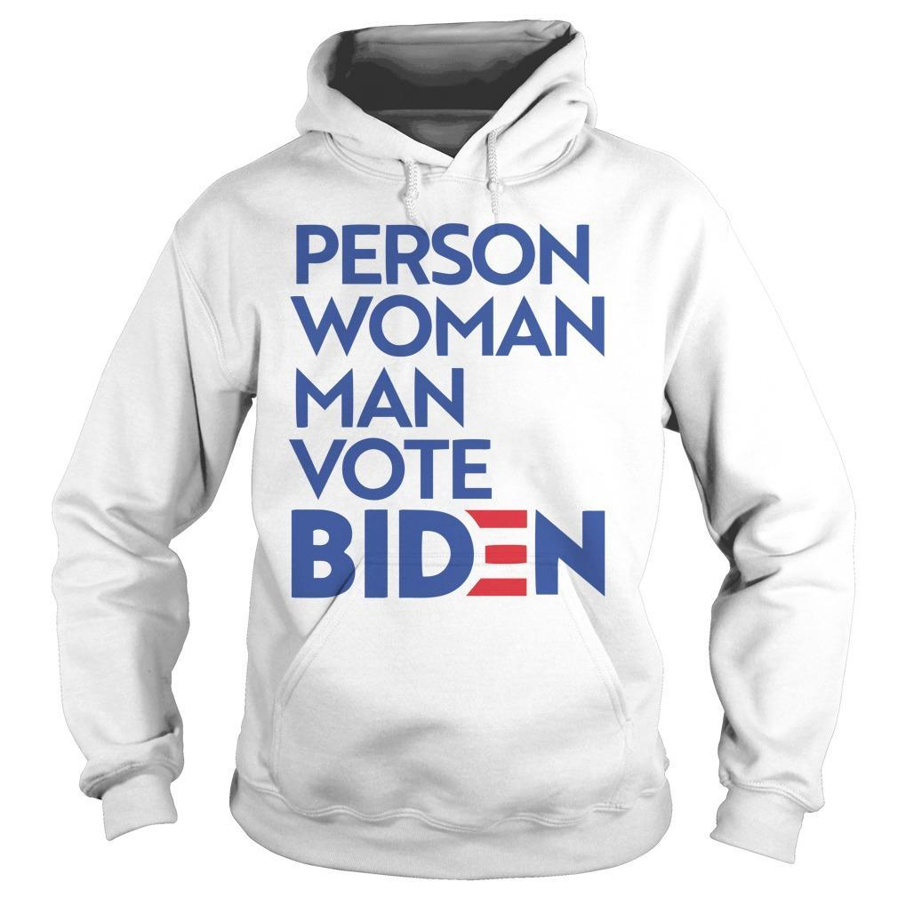 Person Woman Man Vote Biden Hoodie