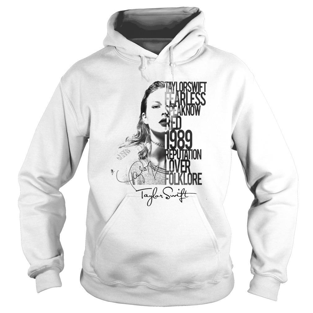 Taylor Swift Fearless Speaknow Red 1989 Reputation Lover Folklore Hoodie