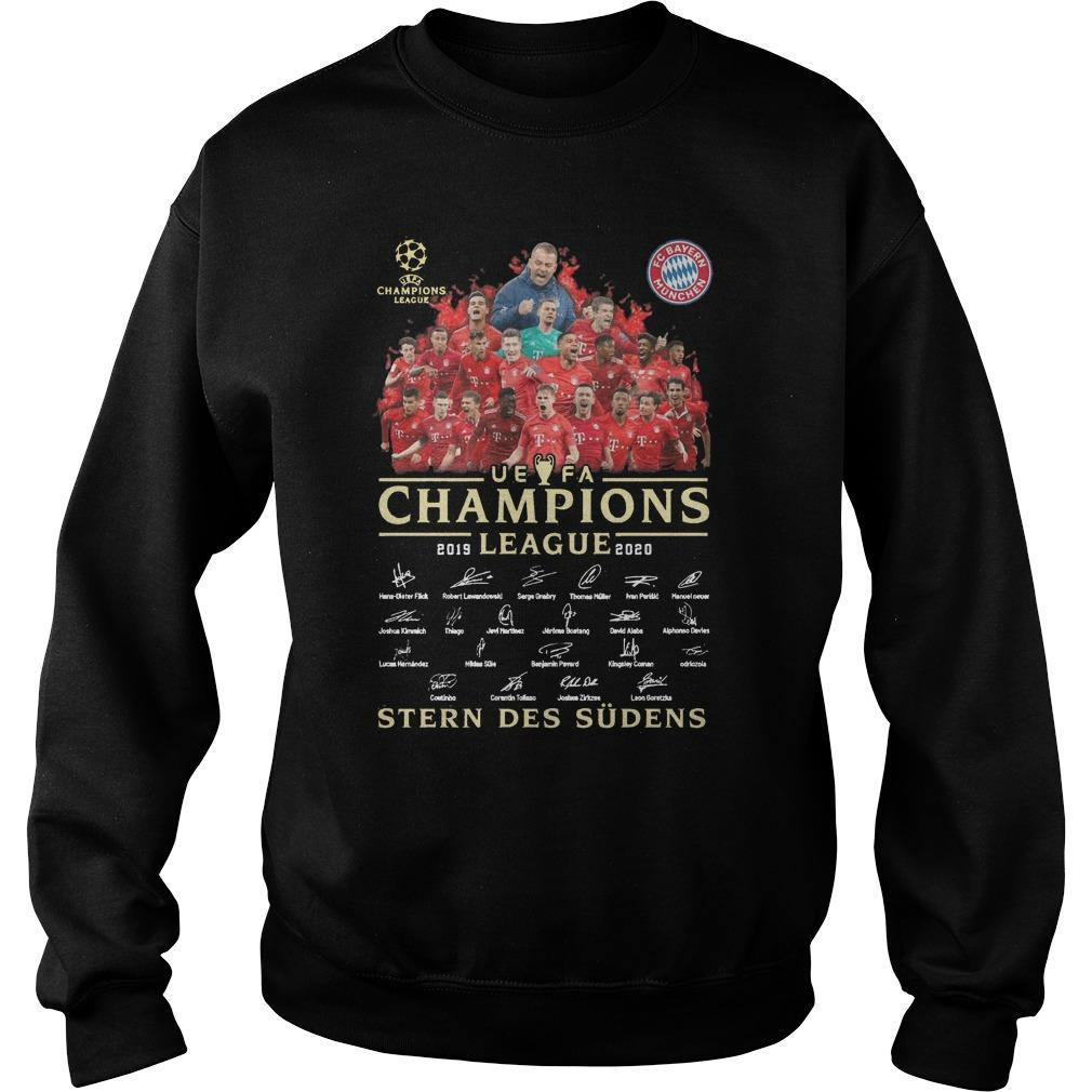 Uefa Champions League 2019 2020 Stern Des Südens Sweater