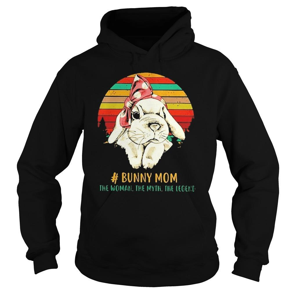 Vintage Bunny Mom The Woman The Myth The Legend Hoodie