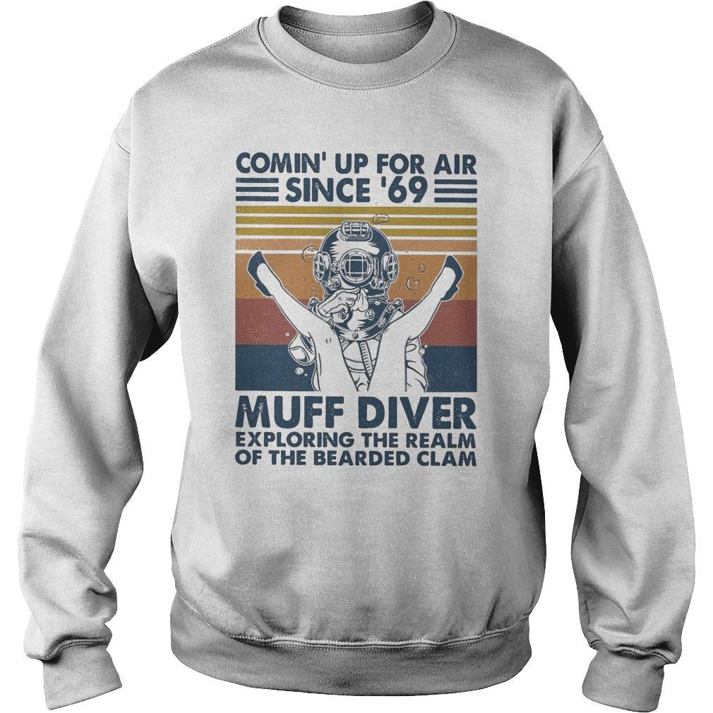 Vintage Comin' Up For Air Since '69 Muff Diver Sweater