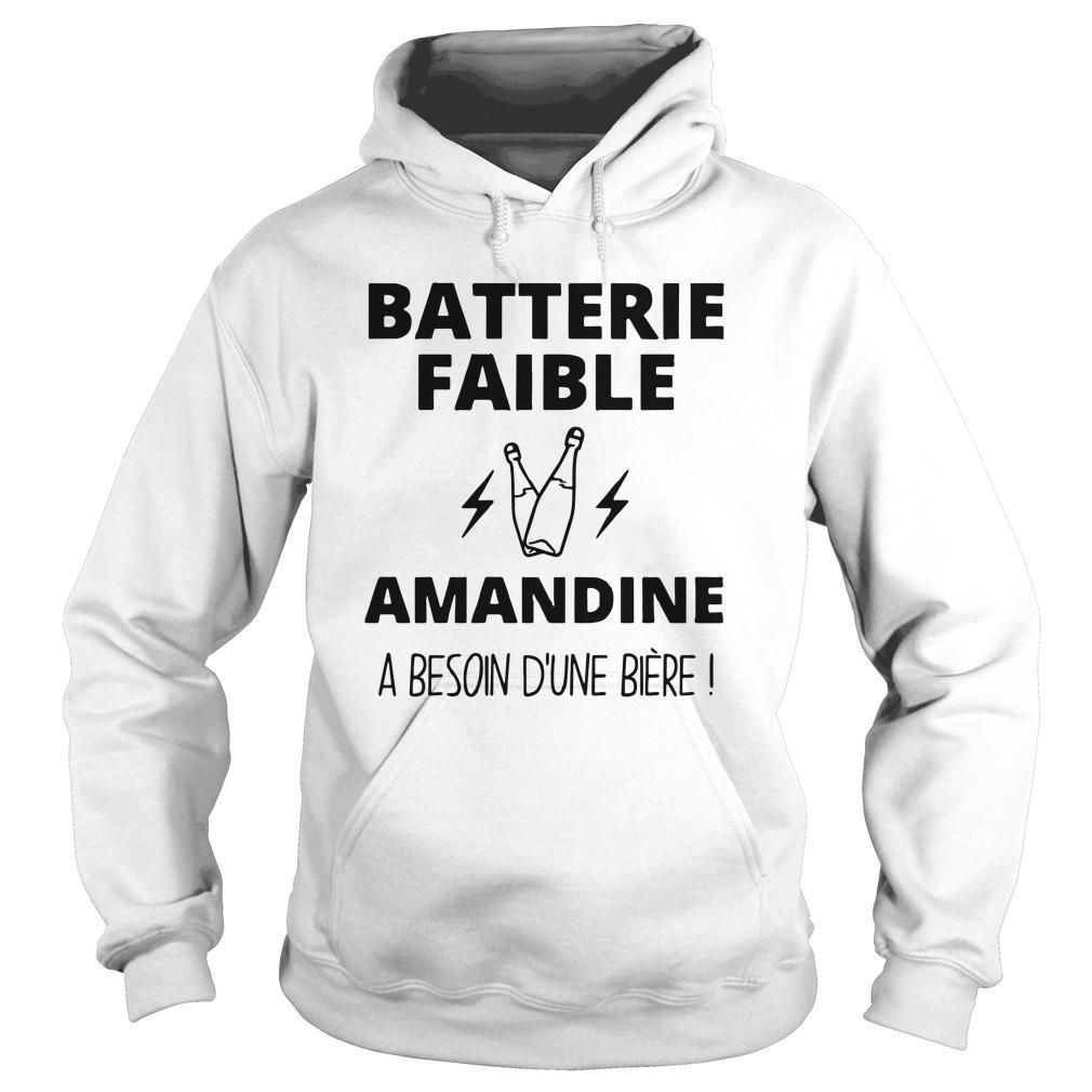 Batterie Faible Amandine A Besoin D'une Bière Hoodie