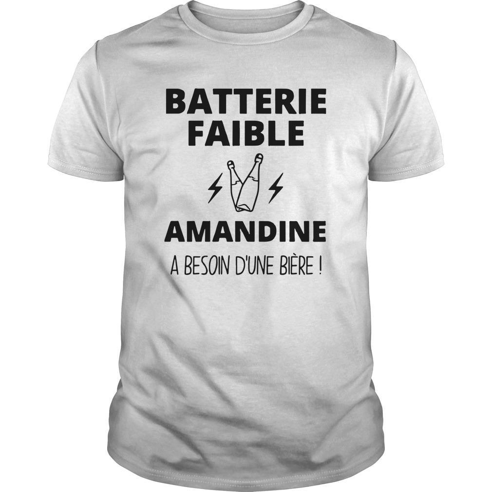 Batterie Faible Amandine A Besoin D'une Bière Shirt