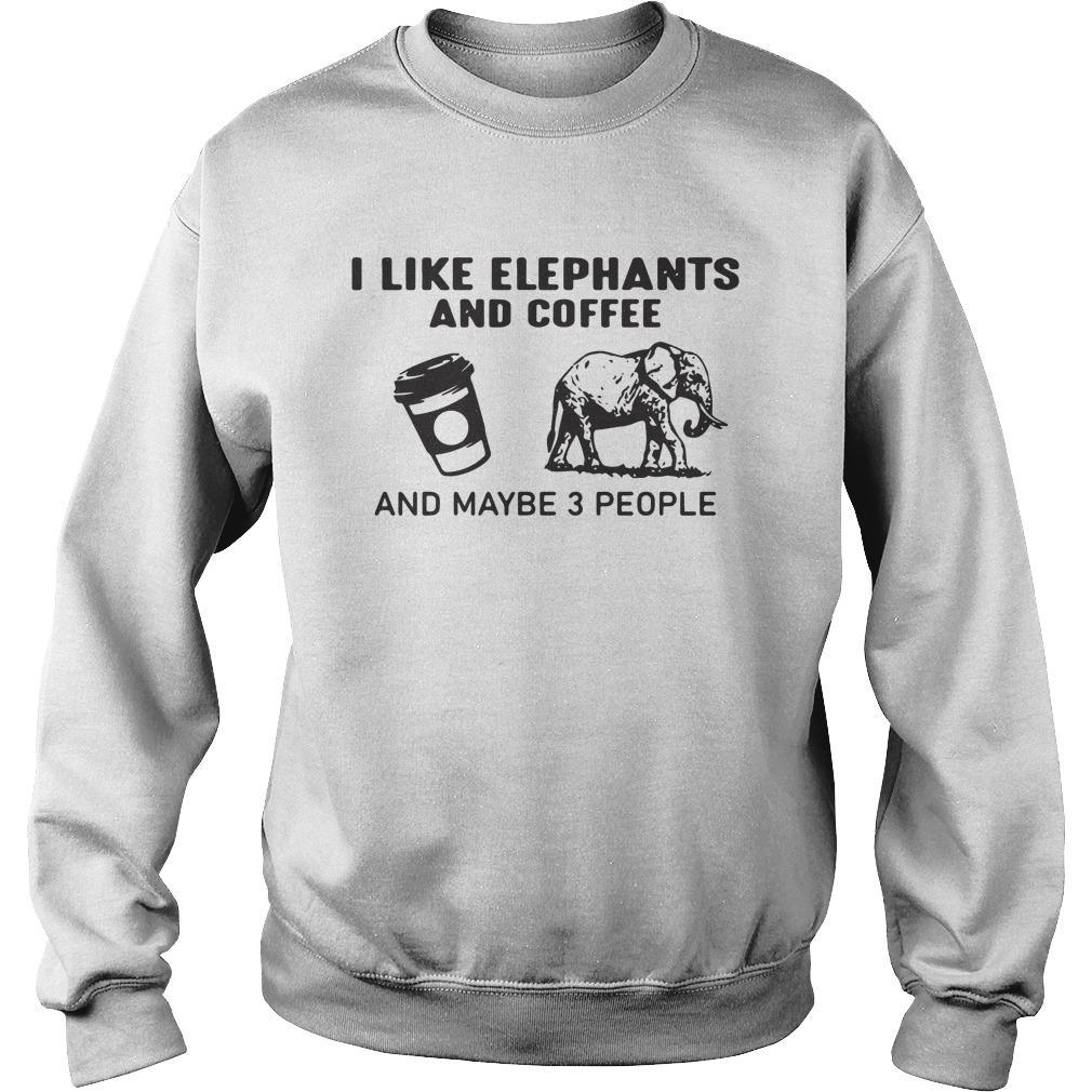 I Like Elephants And Coffee And Maybe 3 People Sweater