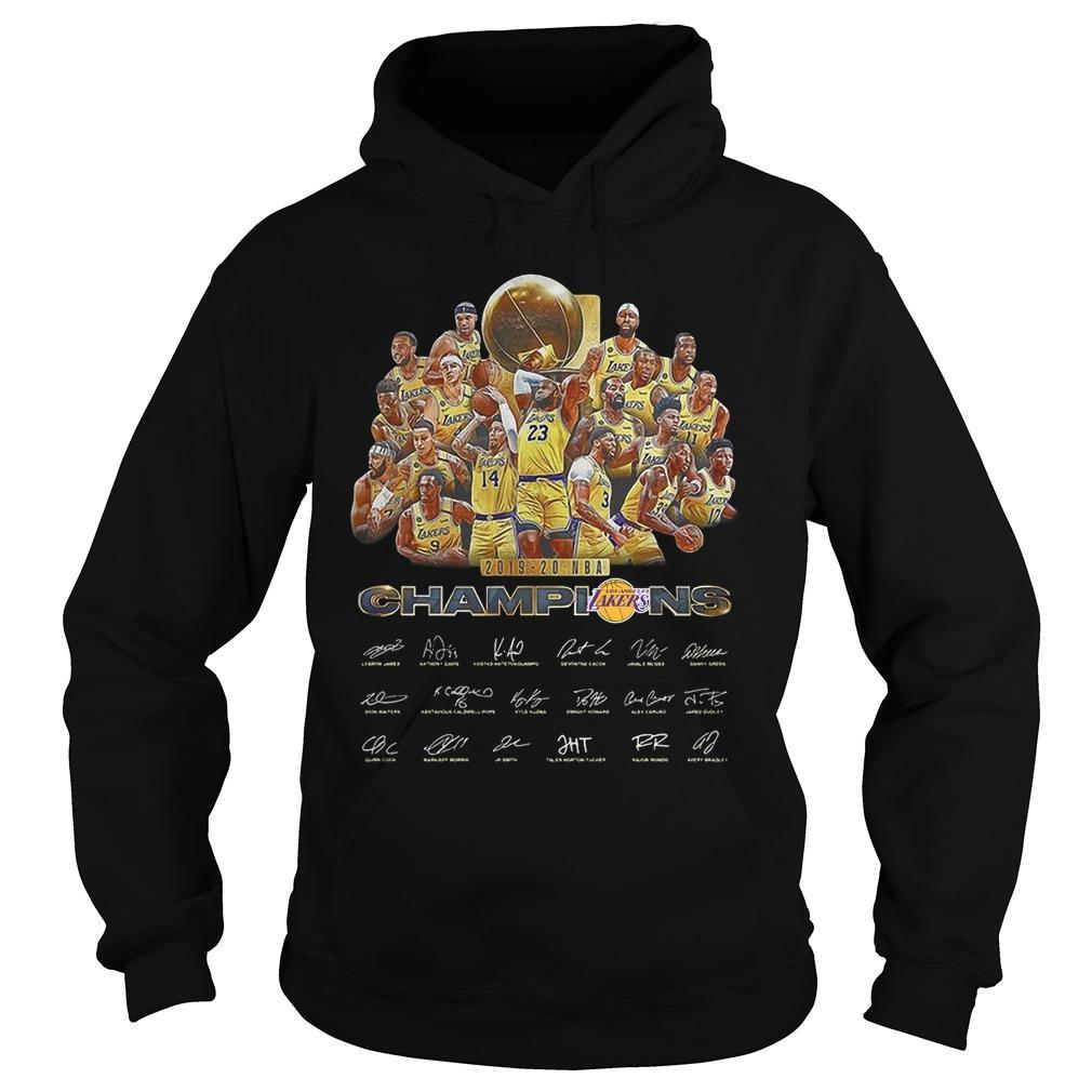 2019 20 Nba Champion Los Angeles Lakers Signatures Hoodie