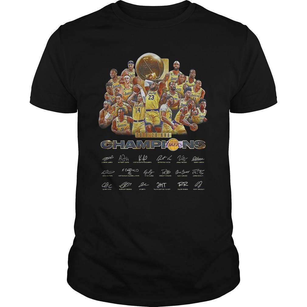 2019 20 Nba Champion Los Angeles Lakers Signatures Shirt
