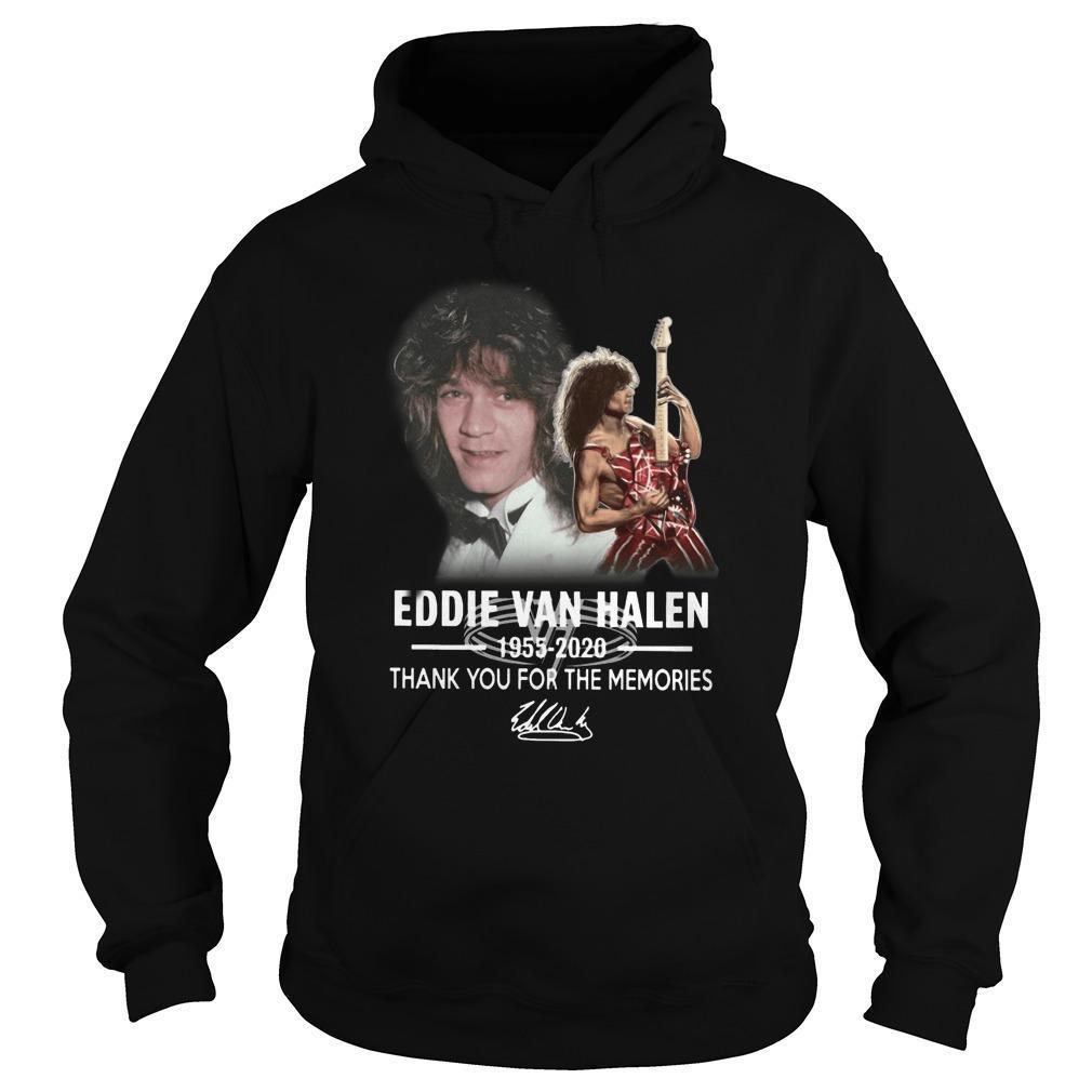 Eddie Van Halen 1955 2020 Thank You For The Memories Hoodie