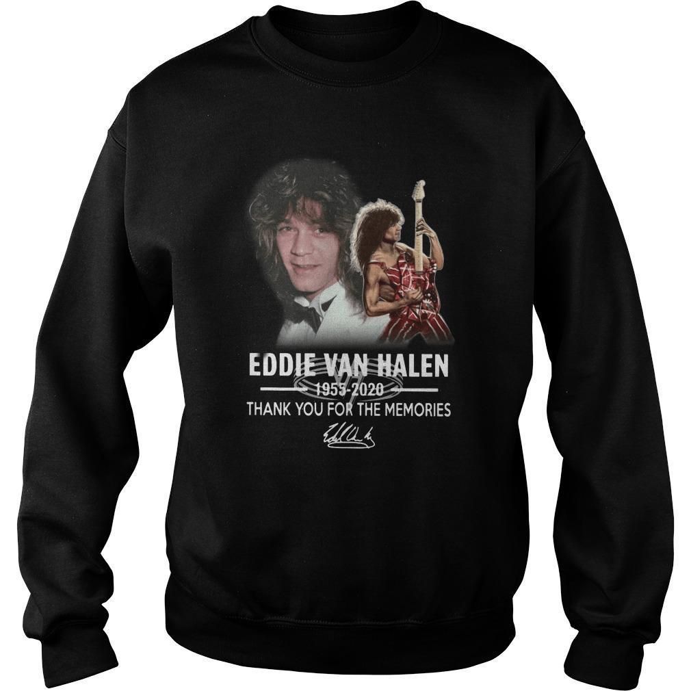 Eddie Van Halen 1955 2020 Thank You For The Memories Sweater