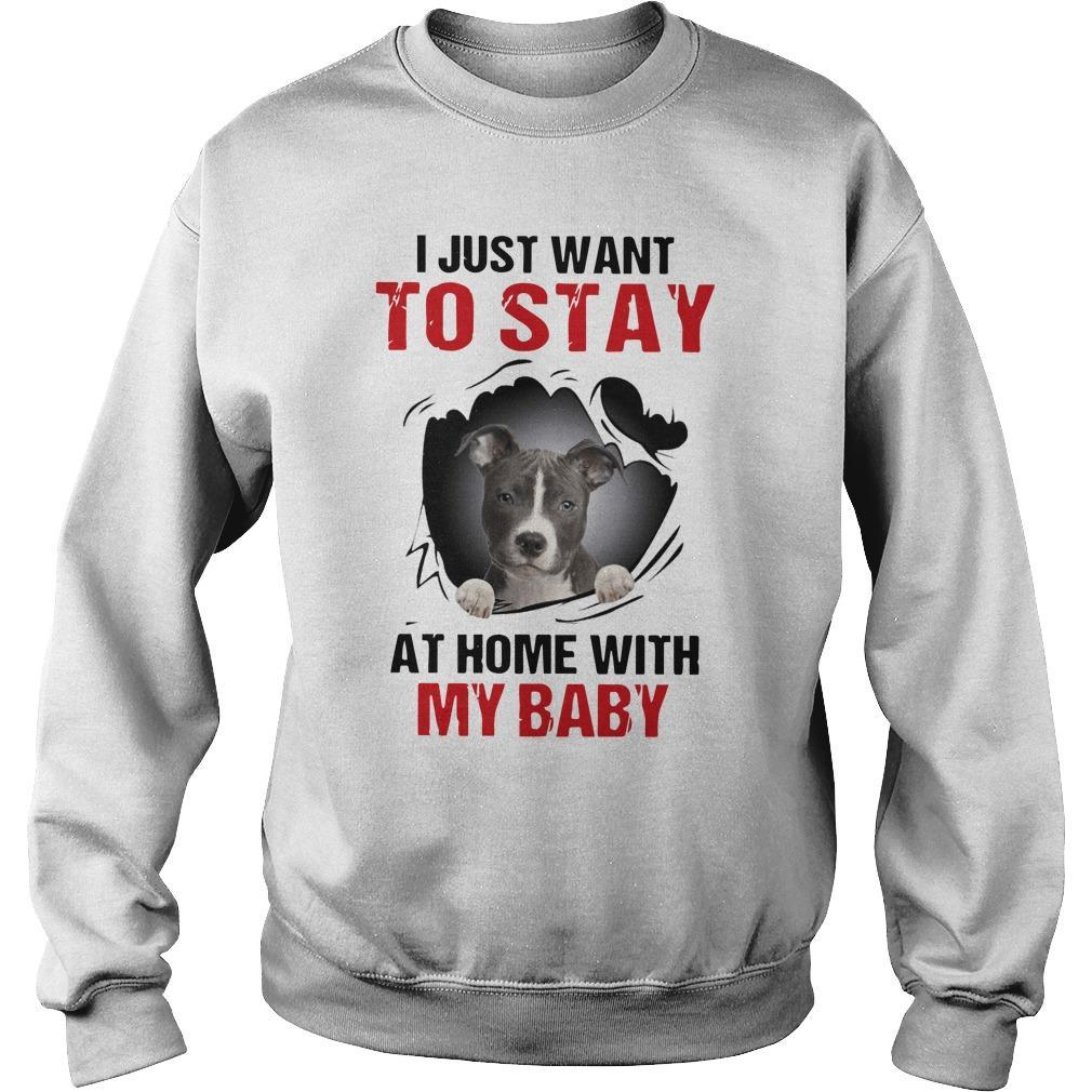 Pitbull I Just Want To Stay At Home With My Baby Sweater