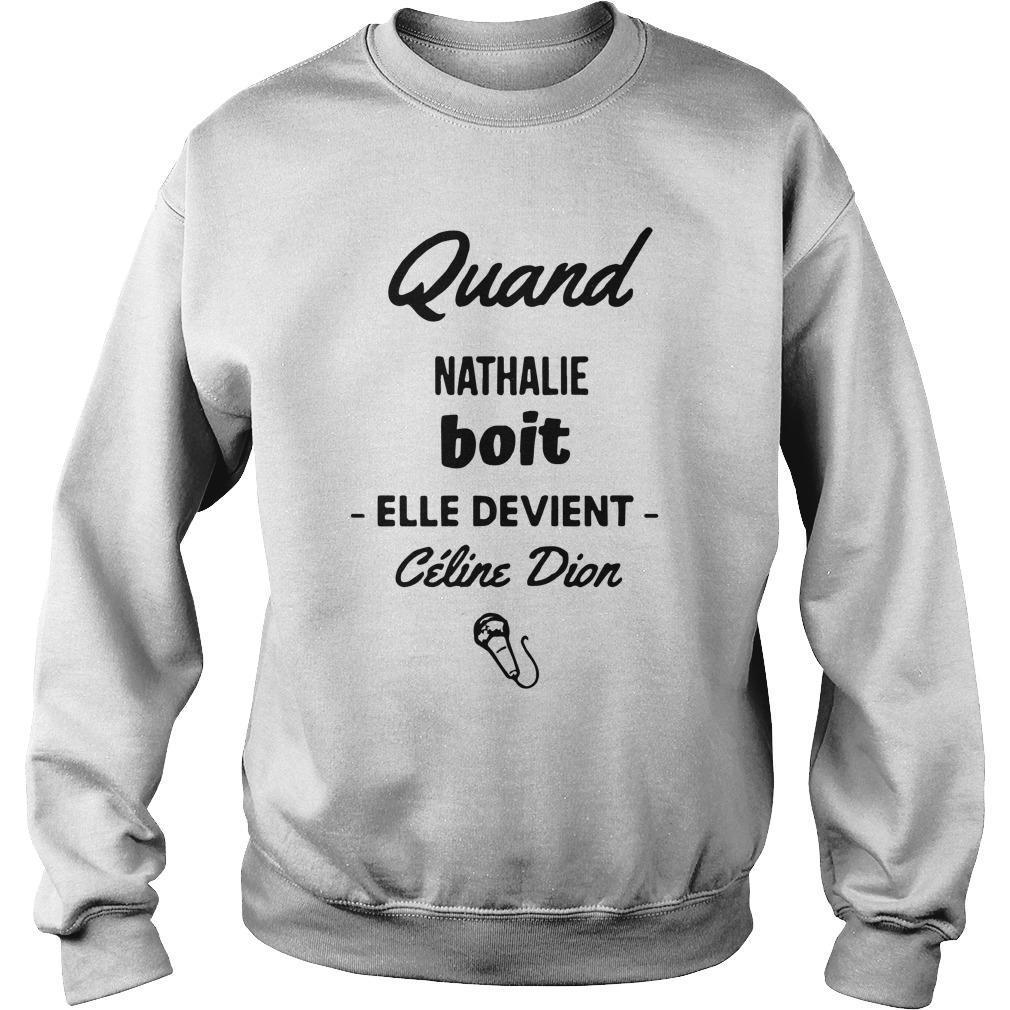 Quand Nathalie Boit Elle Devient Céline Dion Sweater