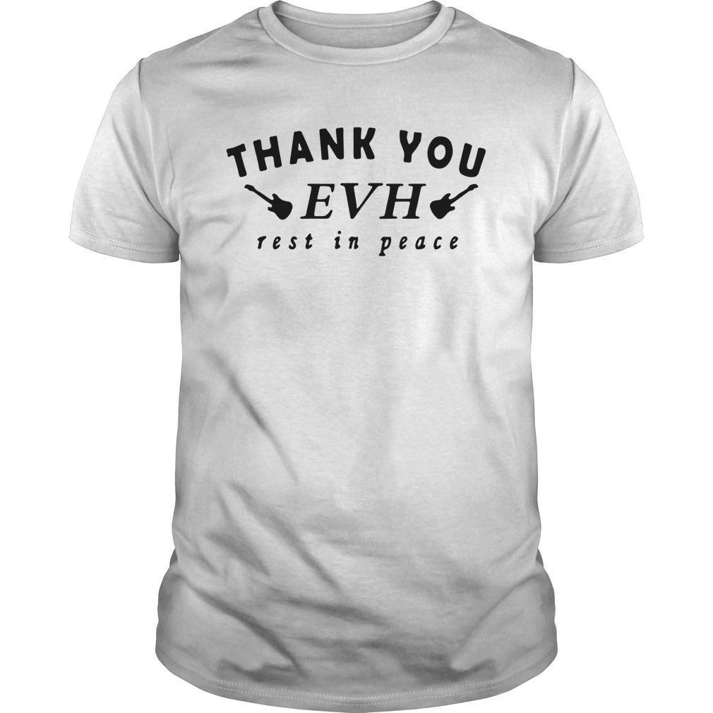 Thank You Evh Rest In Peace Shirt