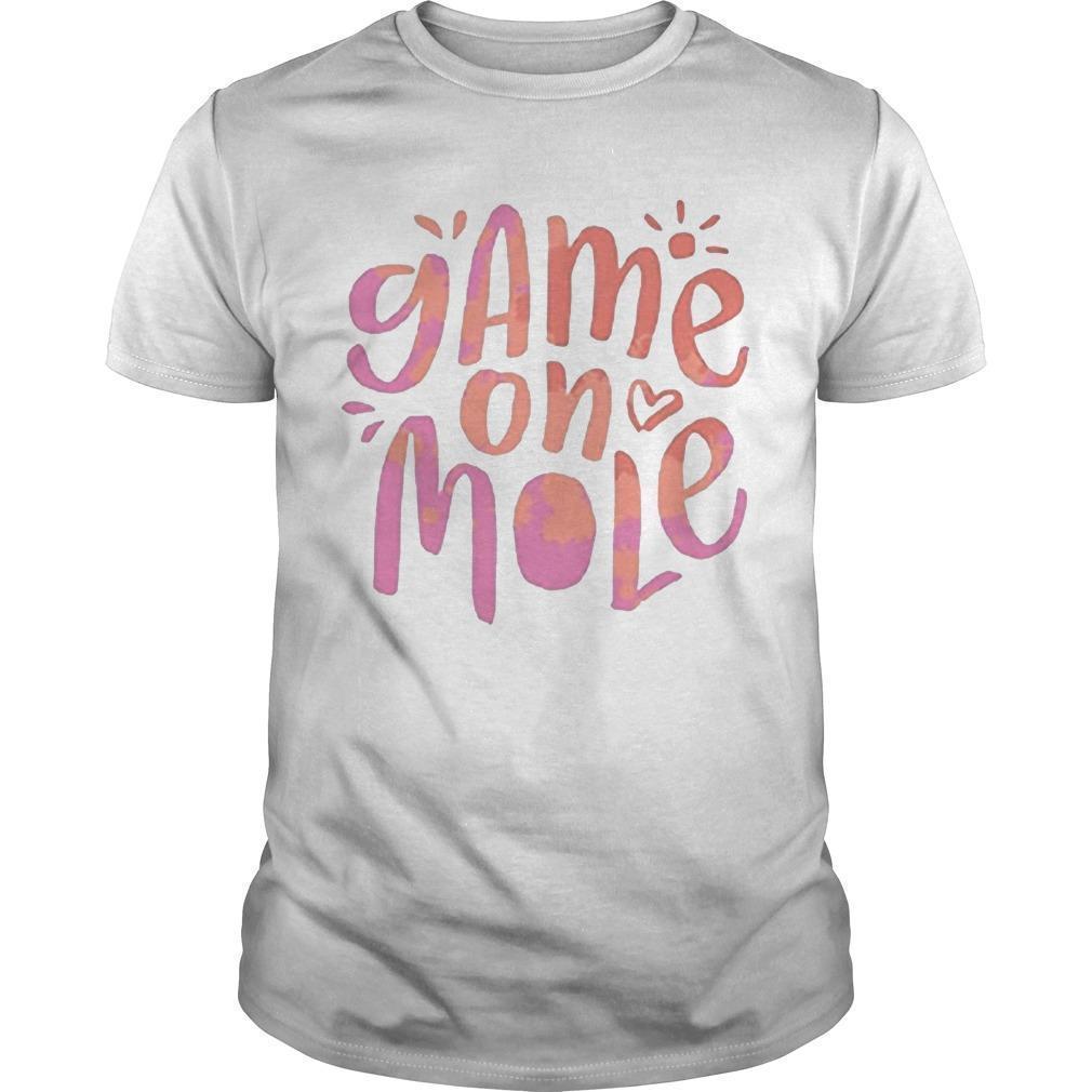 Aussie Game On Mole T Shirt