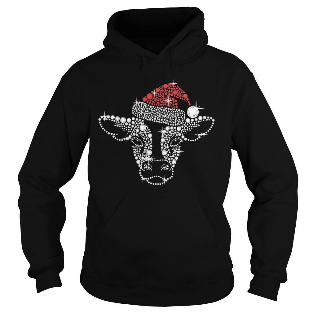 Christmas Cow Fill Diamond Hoodie