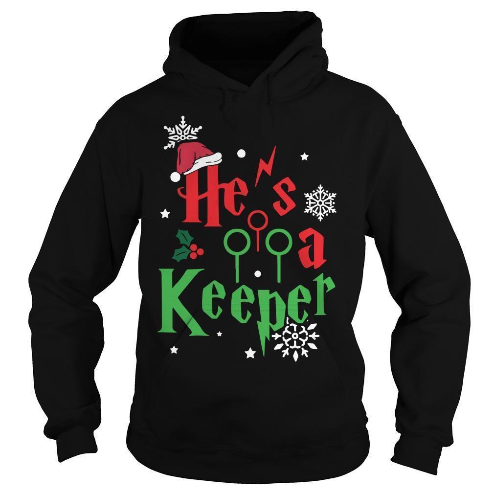 Christmas He's A Keeper Hoodie