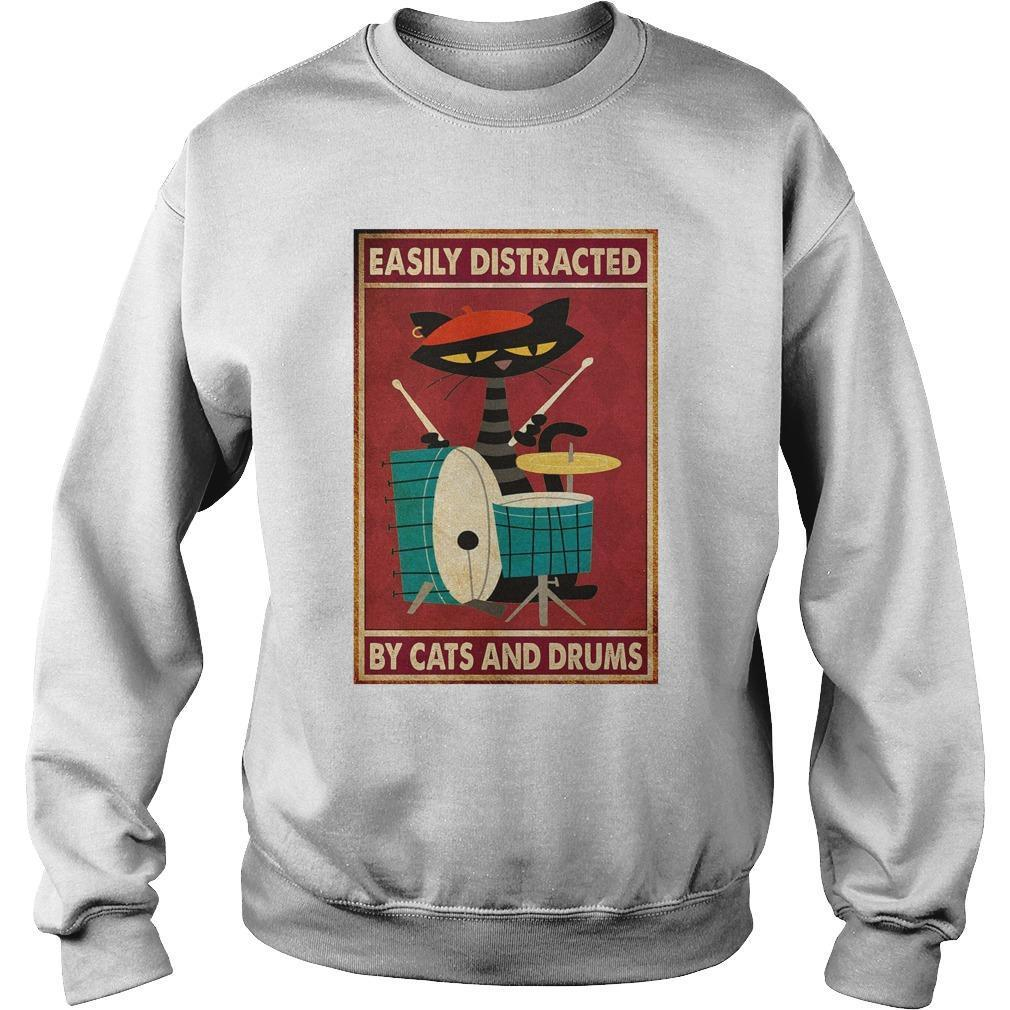 Easily Distracted By Cats And Drums Sweater