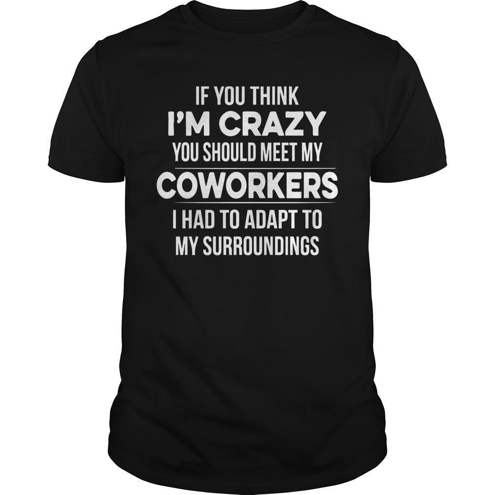 If You Think I'm Crazy You Should Meet My Coworkers Shirt