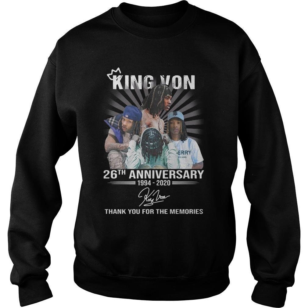 King Von 26th Anniversary Thank You For The Memories Sweater