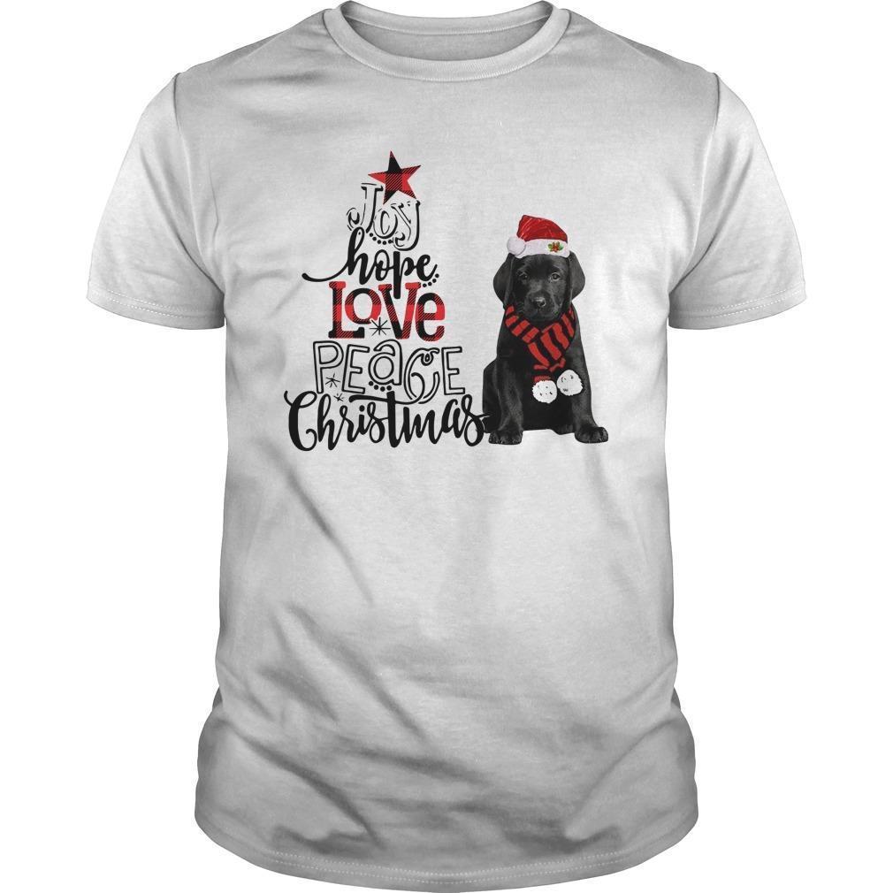 Labrador Joy Hope Love Peace Christmas Shirt