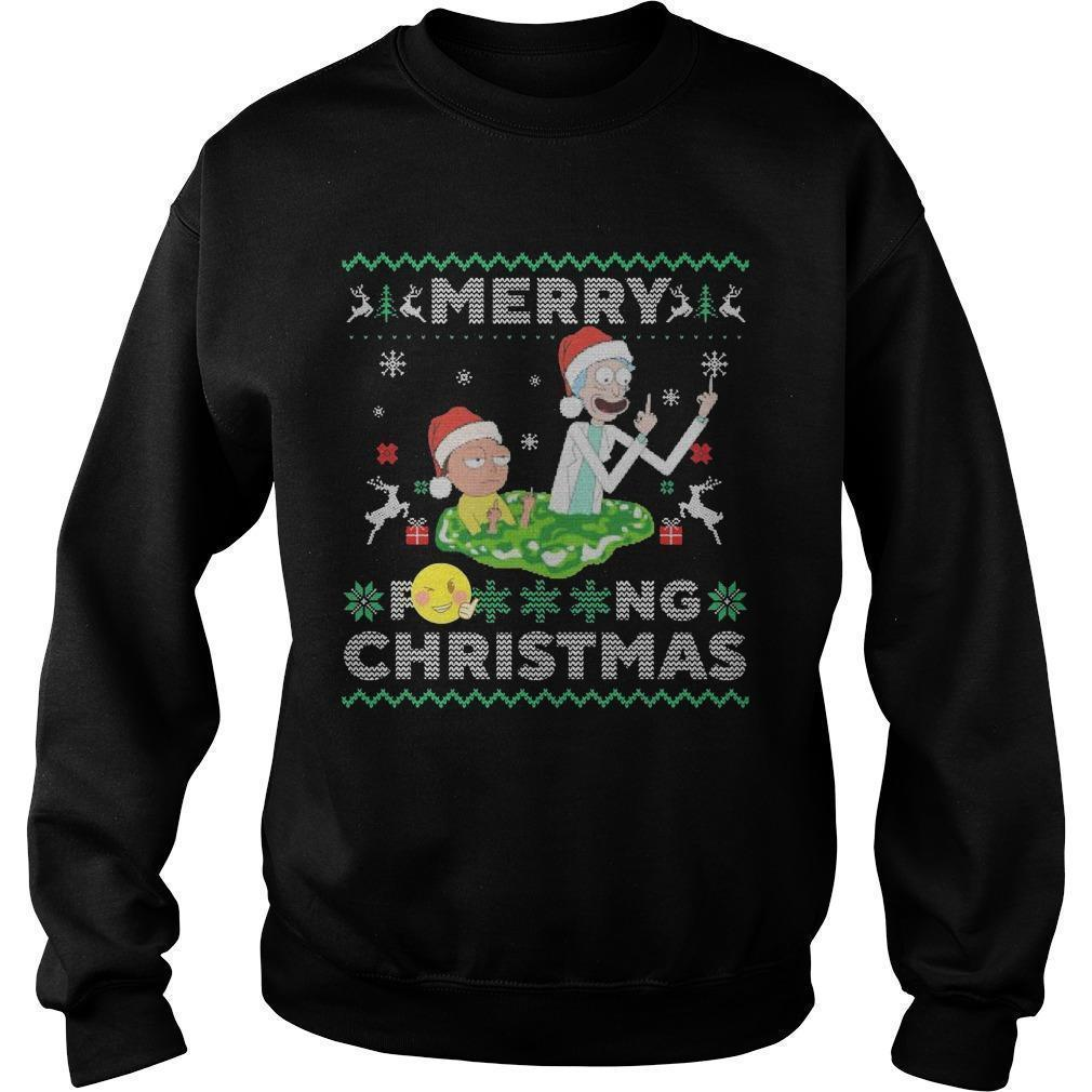 Merry Fucking Christmas Rick And Morty T Sweater