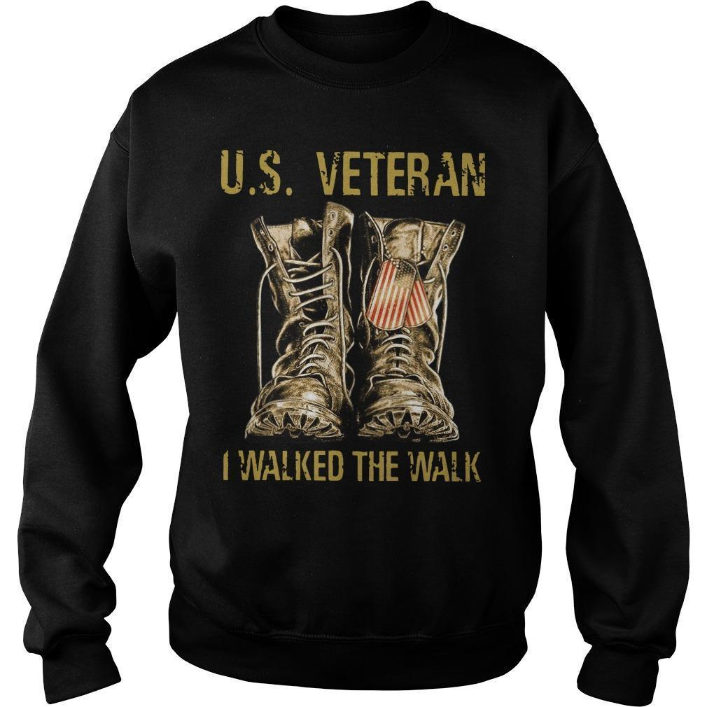 Us Veteran I Walked The Walk Sweater