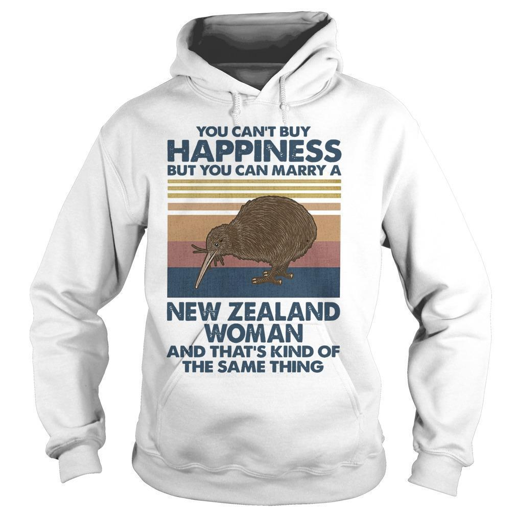 Vintage You Can't Buy Happiness But You Can Marry A New Zealand Woman Hoodie