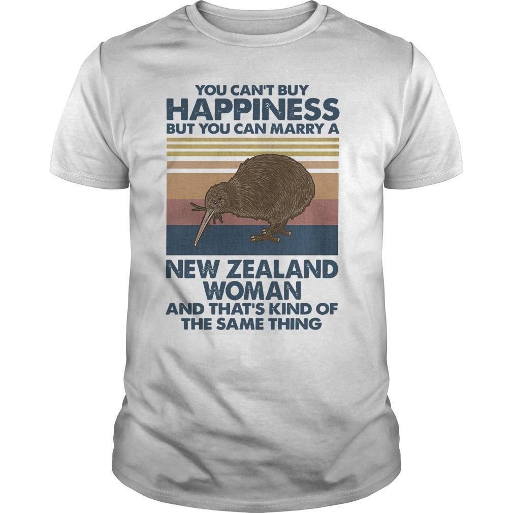 Vintage You Can't Buy Happiness But You Can Marry A New Zealand Woman Shirt