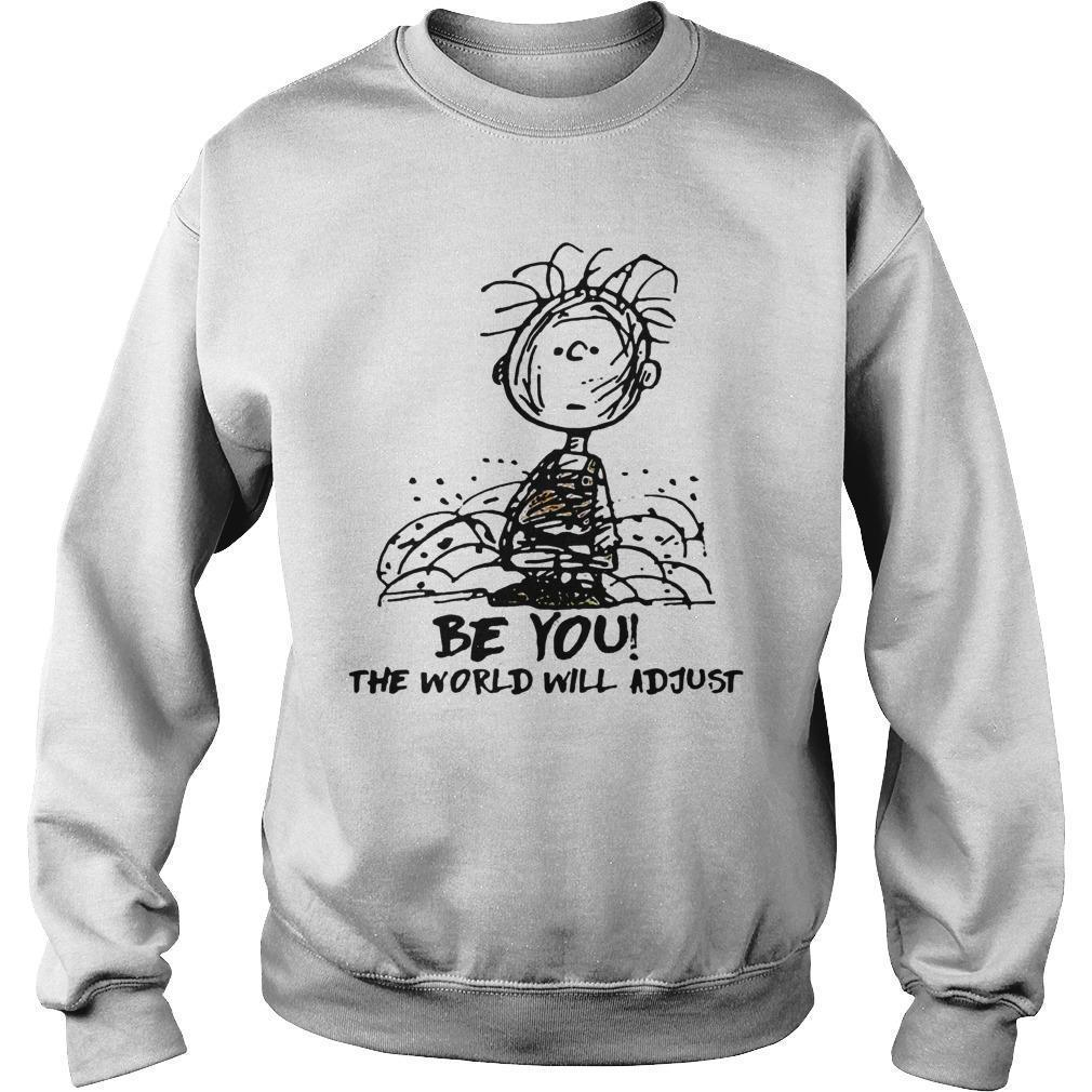 Charlie And Snoopy Be You The World Will Adjust Sweater