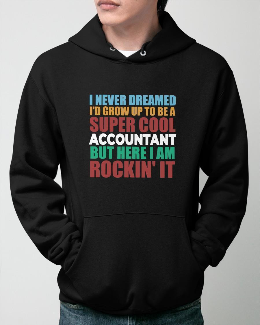 I Never Dreamed I'd Grow Up To Be A Super Cool Accountant Hoodie