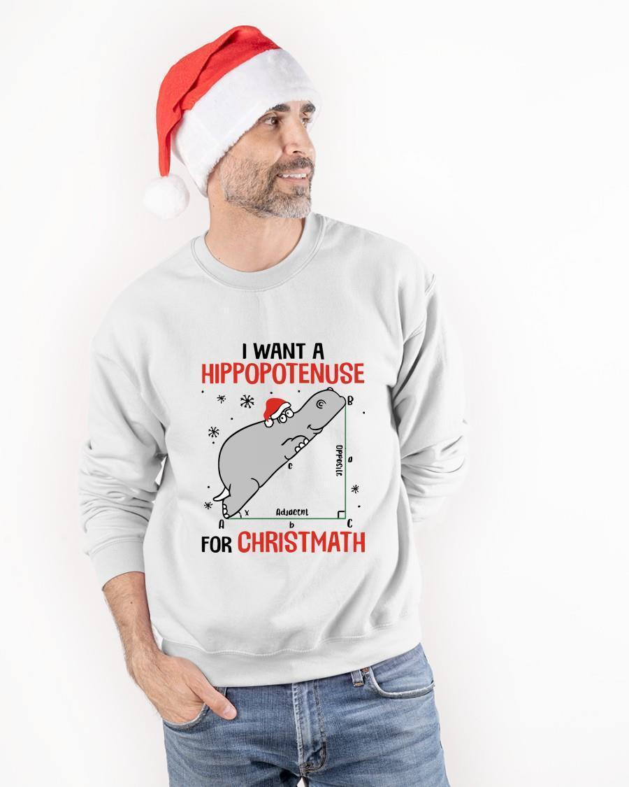 I Want A Hippopotenuse For Christmath Sweater