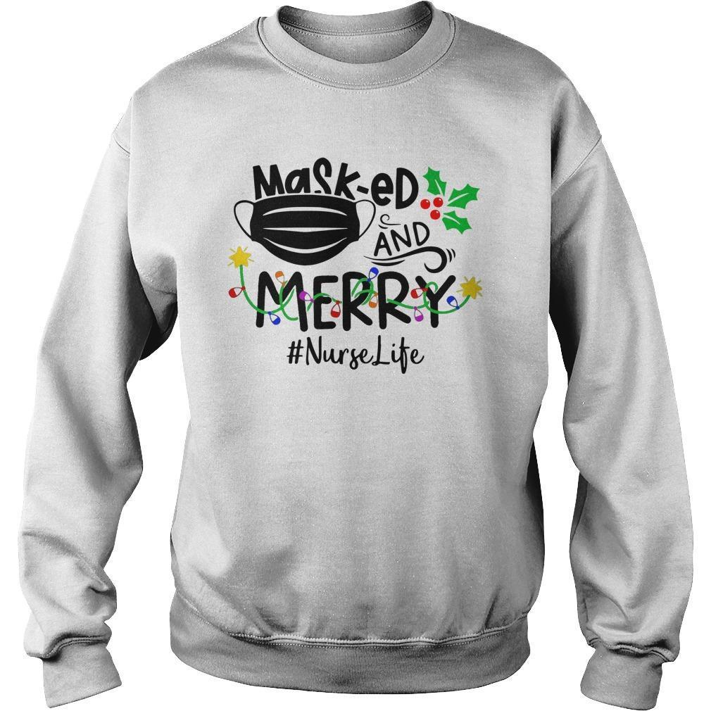 Masked And Merry #nurselife Sweater