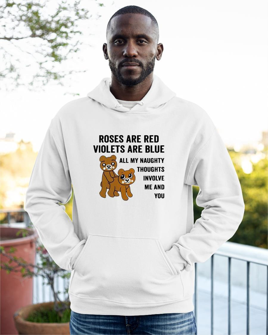 Roses Are Red Violets Are Blue All My Naughty Thoughts Involve Me And You Hoodie