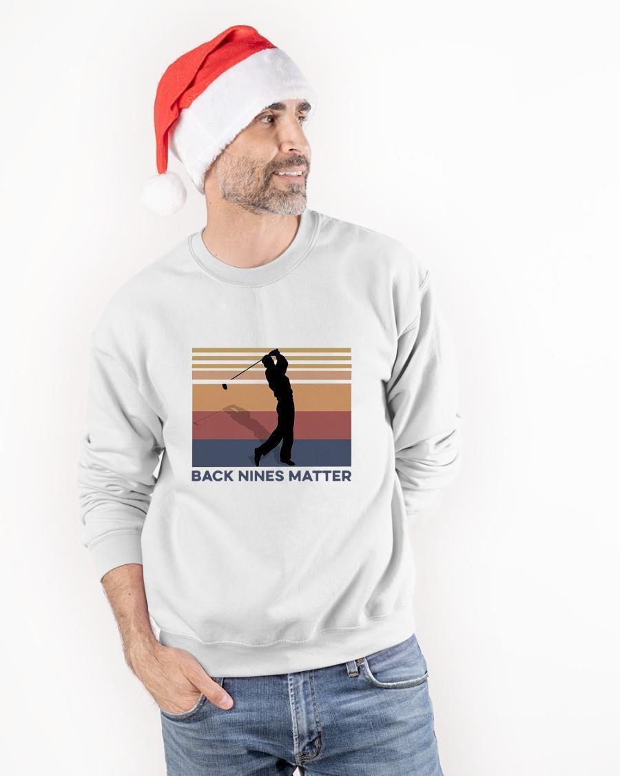 Vintage Golf Back Nines Matter Sweater