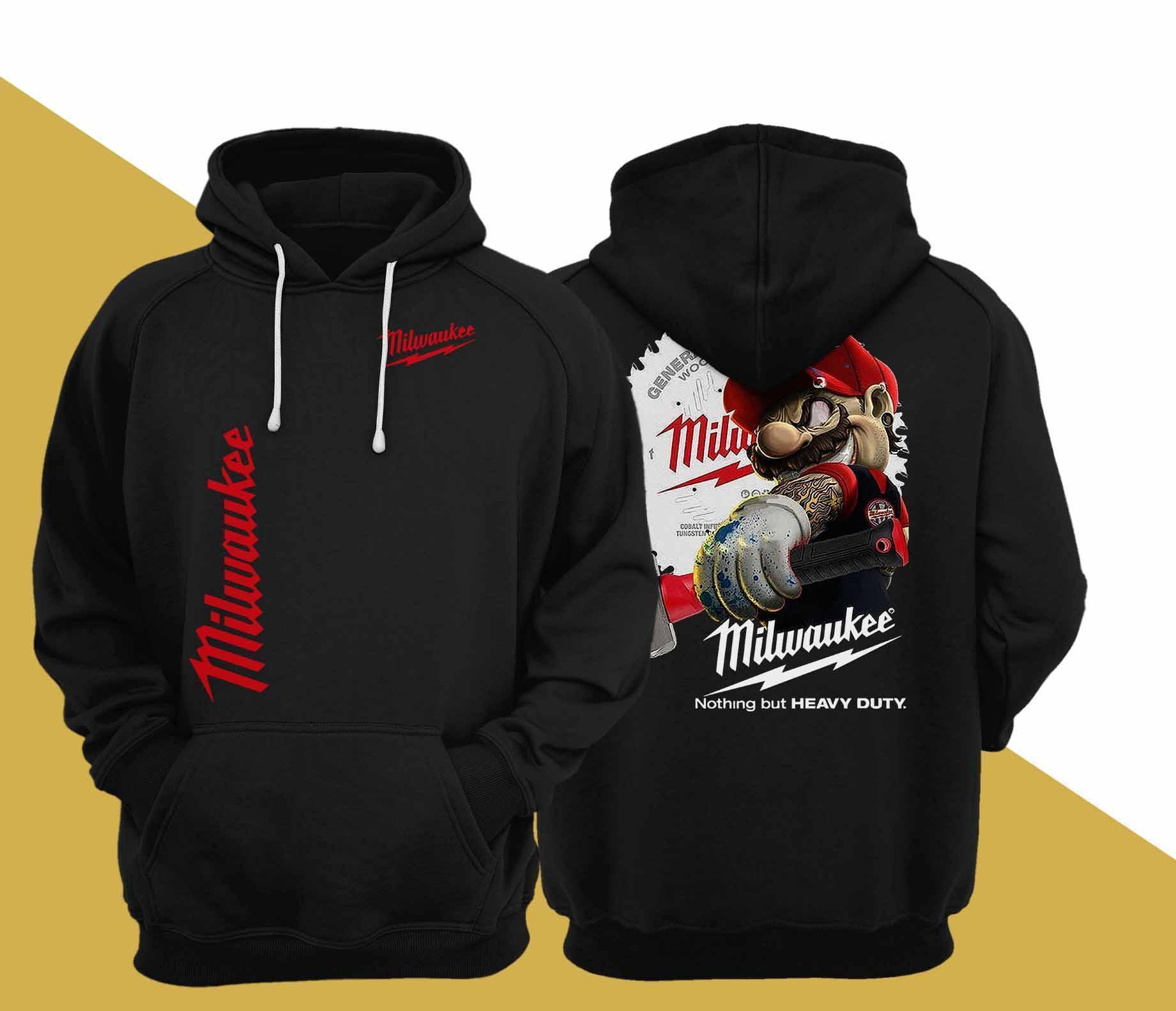 Mario Milwaukee Nothing But Heavy Duty Hoodie