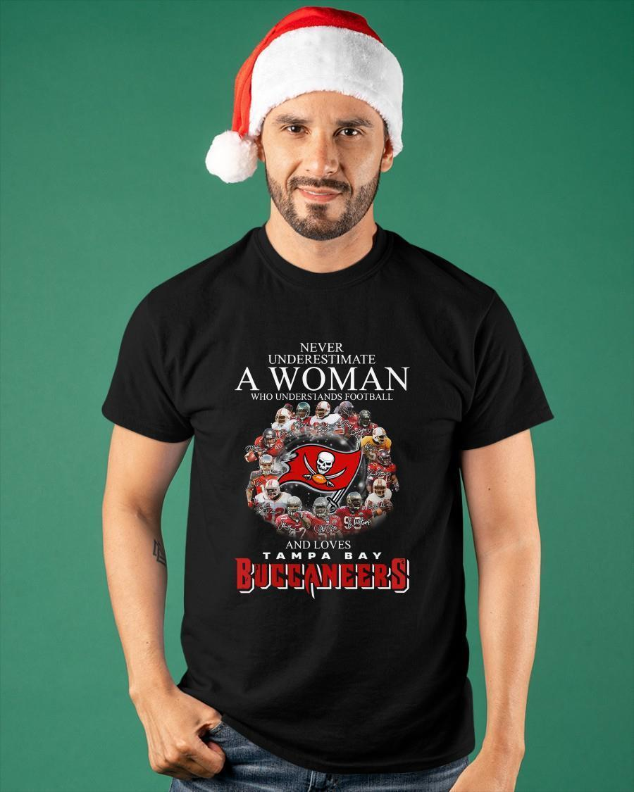 Never Underestimate A Woman Who Understands Football And Loves Tampa Bay Shirt