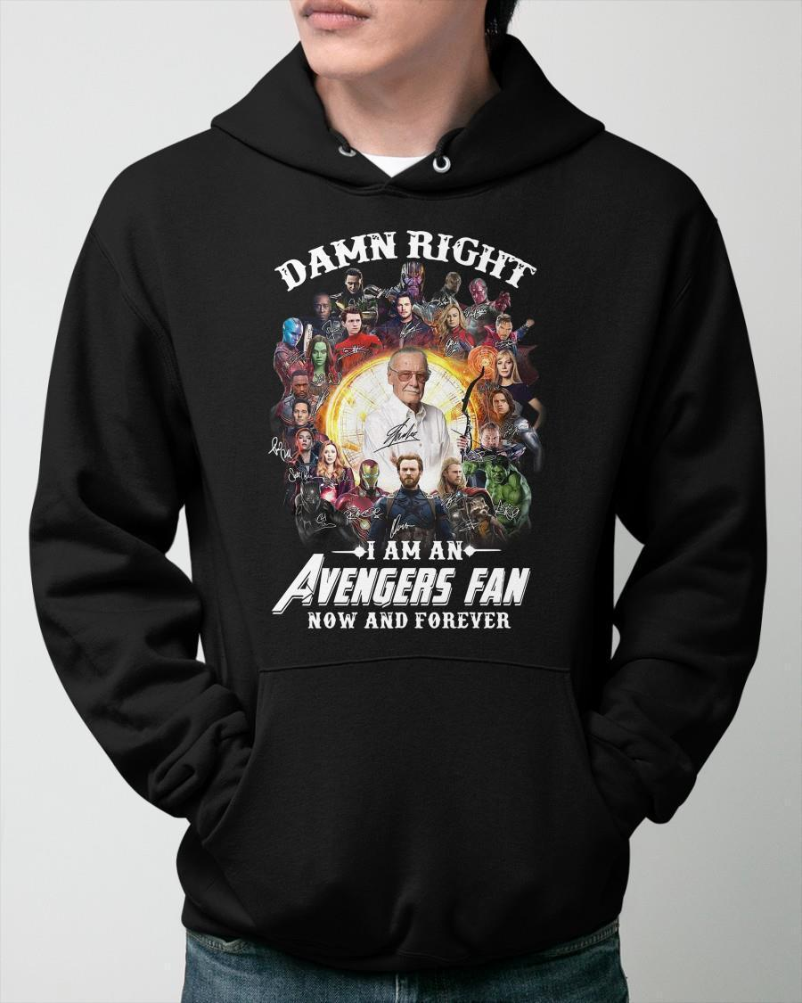Damn Right I Am An Avengers Fan Now And Forever Hoodie