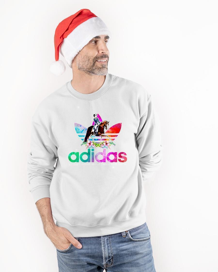 Flower Adidas All Day I Dream About Dance With Horse Sweater