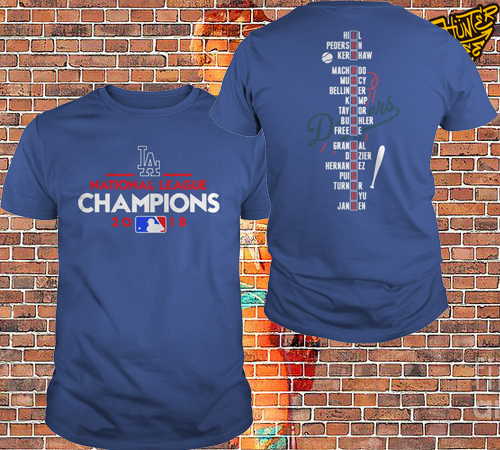 Los Angeles Dodgers National League Champions 2018 Shirt