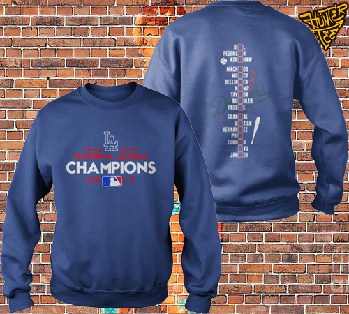 Los Angeles Dodgers National League Champions 2018 Sweater