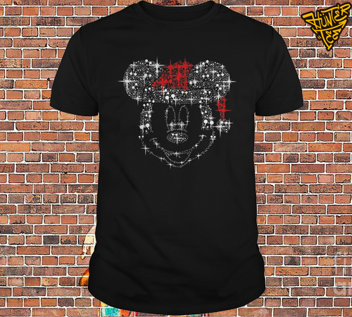 Mickey Mouse Rhinestone Christmas shirt