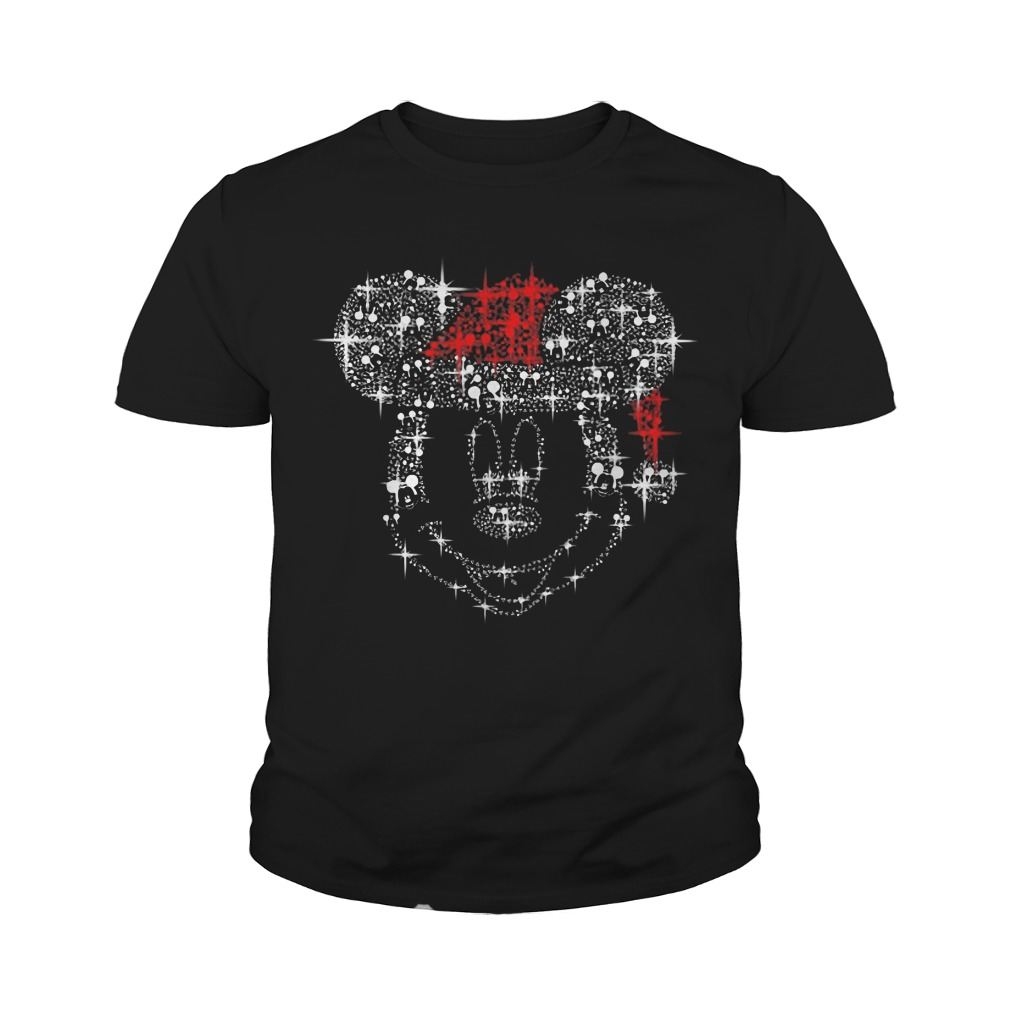 Mickey Mouse Rhinestone Christmas Youth Tee
