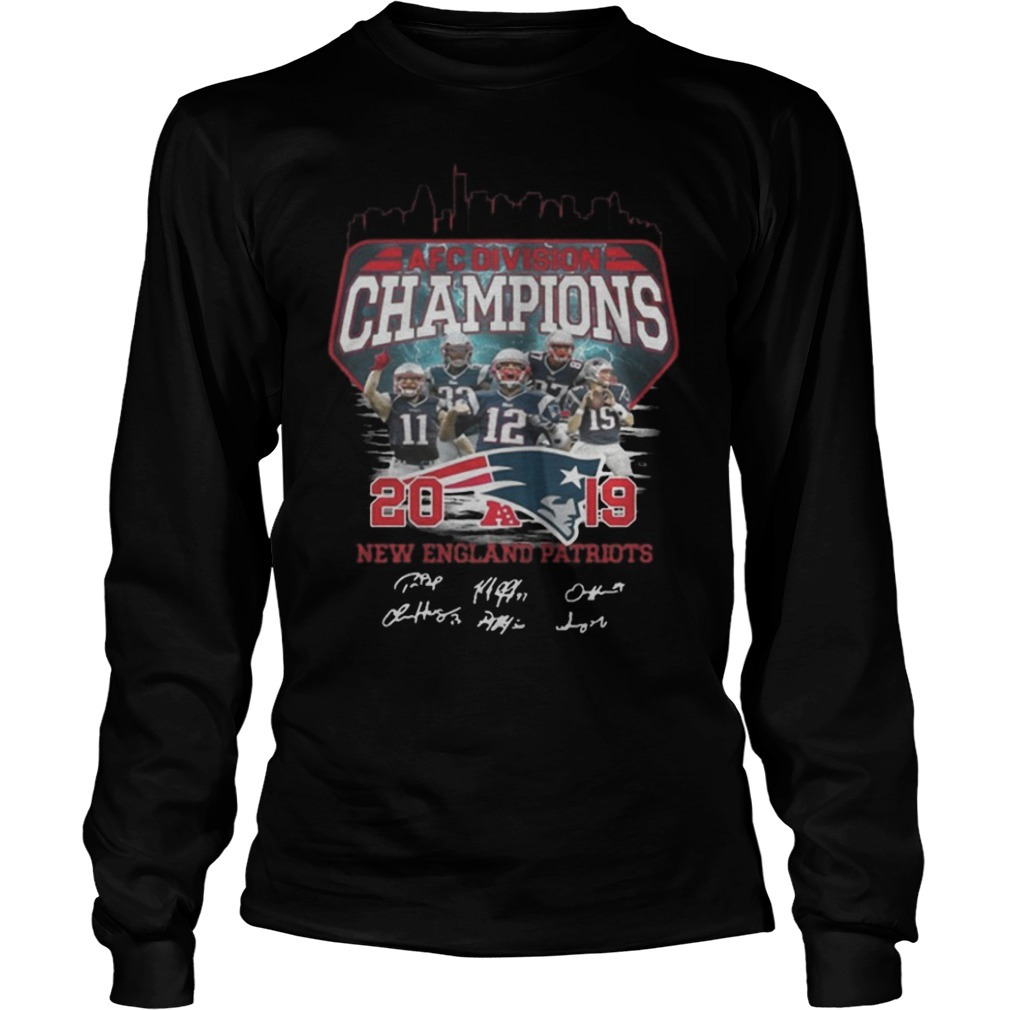 Afc Division Champions 2019 New England Patriots Signature Long Sleeve Tee