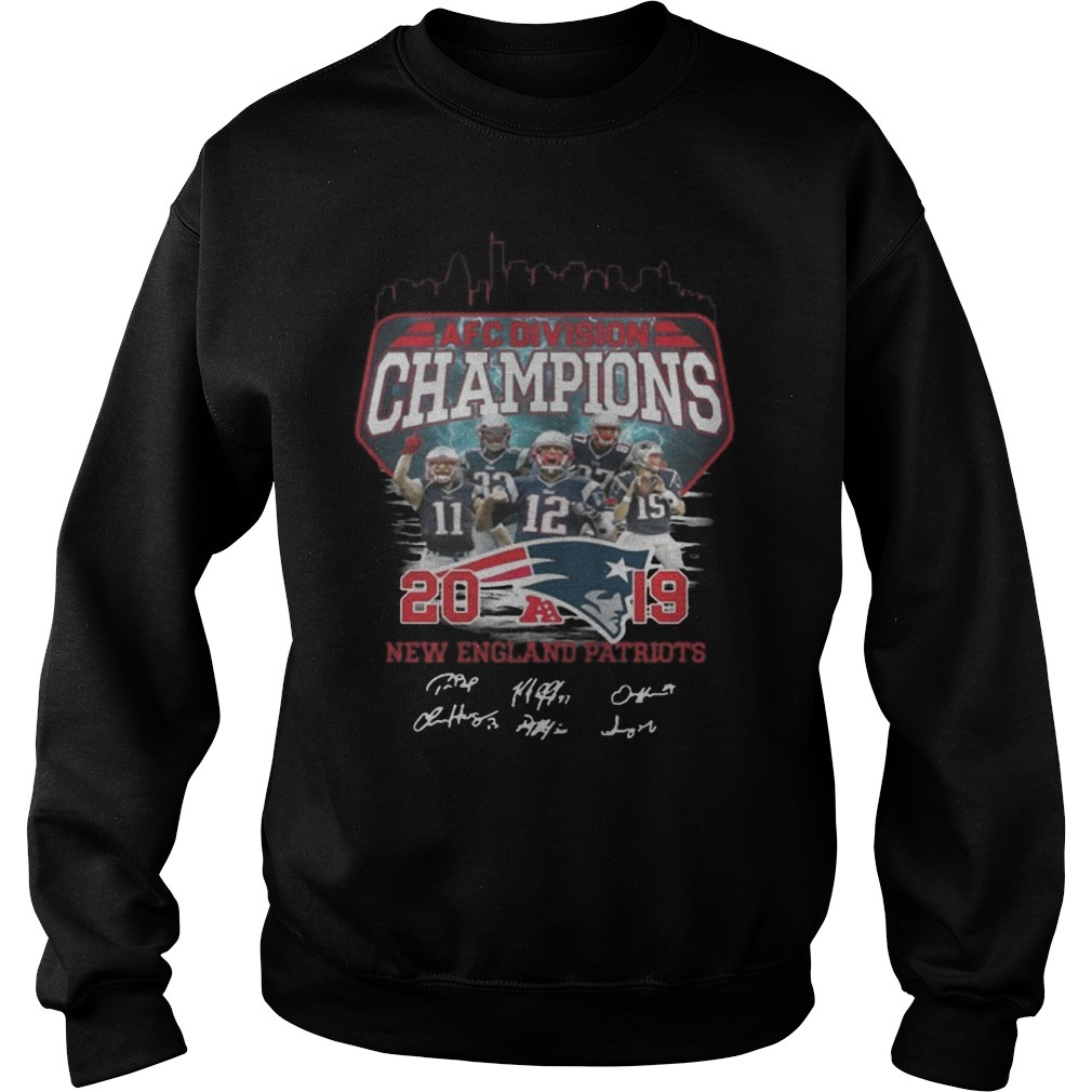 Afc Division Champions 2019 New England Patriots Signature Sweater
