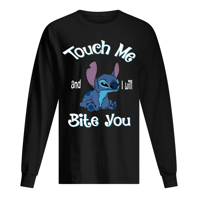 Stitch Touch Me And I Will Bite You Long Sleeve Tee