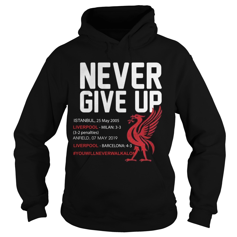Liverpool Never Give Up #you'llneverwalkalone Hoodie