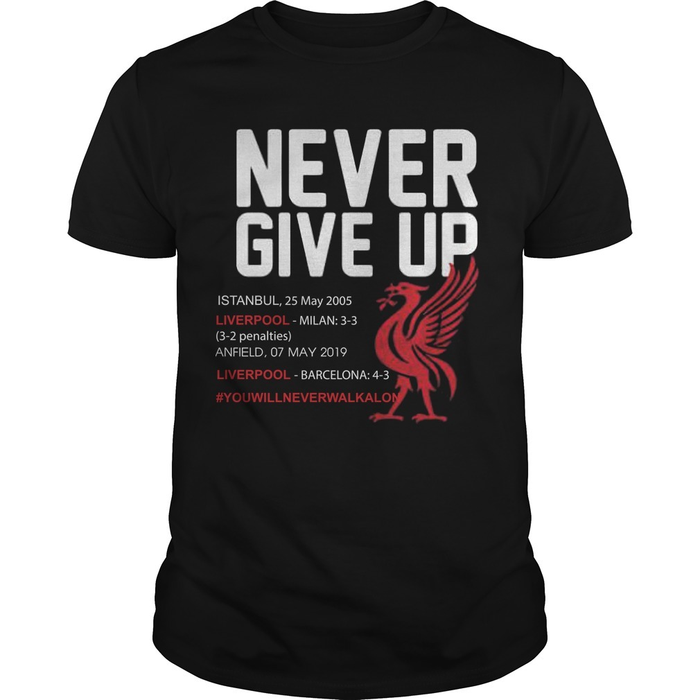 Liverpool Never Give Up #you'llneverwalkalone Shirt