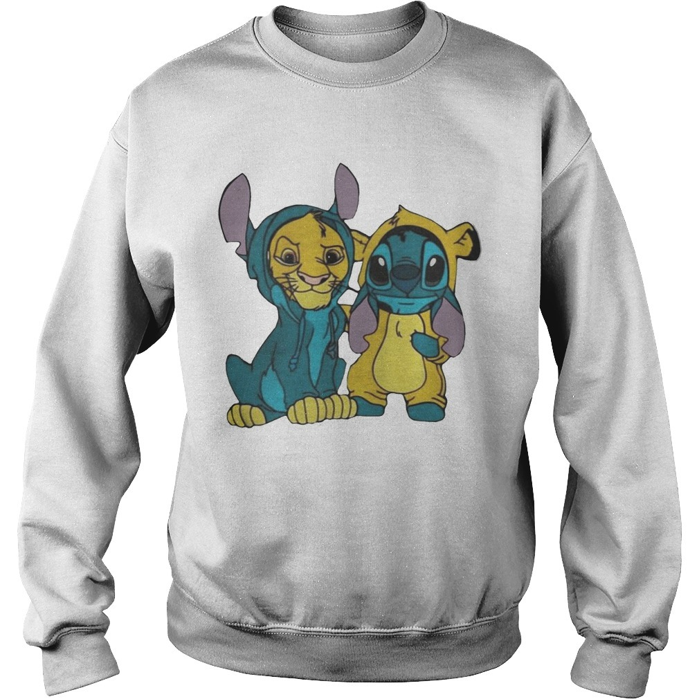 Baby Simba And Stitch Best Friend Sweater